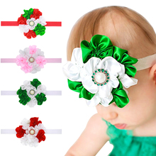 NEW  Floral Headband chiffon Flower lace diamond Hairband Hair Weave Band hairband kids  Accessories Gifts  Stock H143