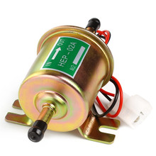 Universal Petrol Gasoline Diesel 12V Electric Fuel Pump HEP-02A Low Pressure For Most Car Carburetor Motorcycle ATV(China)