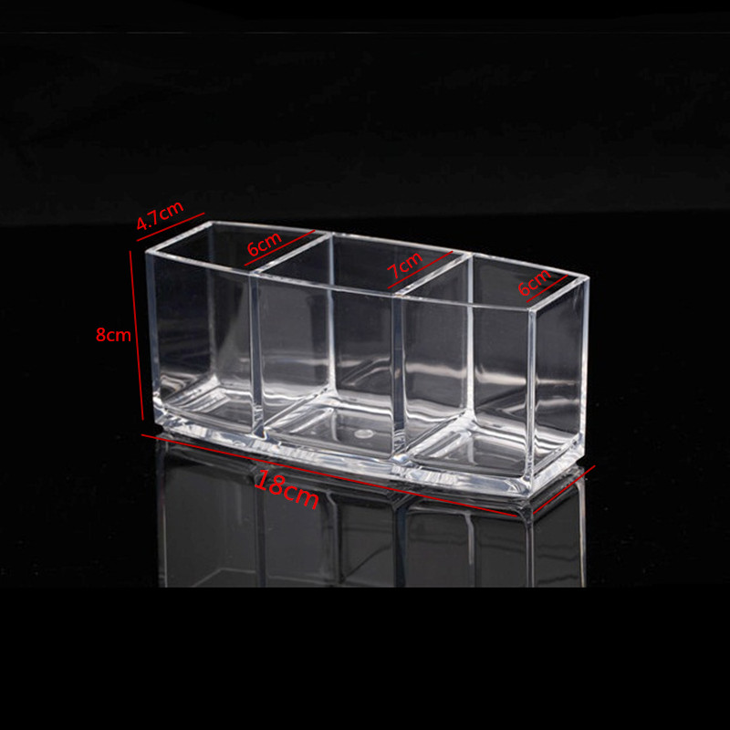 new-3-slots-clear-Acrylic-storage-Cosmetic-Pencils-holder-Makeup-brush-holder-Organizer-jewel-case-Cosmetic