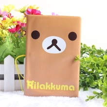 2016 Lazy Bear Rilakkuma relaxed bear passport holder passport cover sets of documents - essential travel abroad