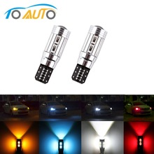 2 PCS T10 W5W Led Bulbs 10SMD CANBUS OBC Error Free LED Lamp 501 dash Car LED bulbs interior Auto Lights Source parking 12V RGB