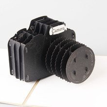3D camera laser cut pop up paper postcards custom handmade Birthday greeting cards Gifts 5031G