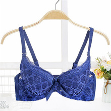 Buy Women Padded Lingerie Brassiere Adjusted Straps Underwear Sexy Lace Floral Bralette Bra