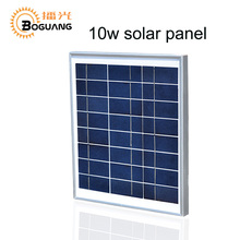 Boguang 12V 10W Watt Solar Panel Polycrystalline silicon glass Cell Module China for Caravan LED light power battery home charge