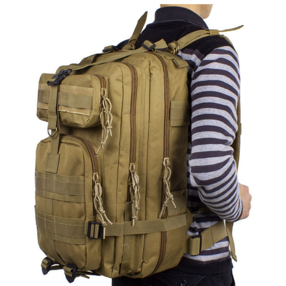 New Men Waterproof 600D Nylon Military Hunt Hike Trekking Bag Backpack Rucksack Bag mochila Backpacks<br>