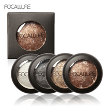 FOCALLURE 10 Colors Baked Eyeshadow Eye shadow Palette in Shimmer Metallic Eyes Makeup Pallete(China)