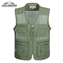 Plus Size 5XL New Arrival Multi-pockets Vest Men Professional Photography Cameraman Vest for Shooting Director Reporter Vests
