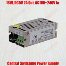 2A 18W DC 5V Output AC 110V 220V In Centralized Power Supply Central Switching Power Source for CCTV Camera Security System(China)