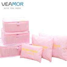 VEAMOR Brand Travel Clothes Finishing Luggage Storage Bags Essential Pouch Underwear Clothing Storage Bags 6Pcs/set B003