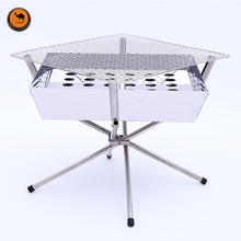 High Strength Light Weight Stainless Steel Fire Table BBQ Charcoal Grill Outdoor Camping Portable Cooking Stove for Barbecue(China)