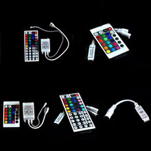 24/44 Keys Mini IR Remote Controller For 3528 5050 RGB LED Strip Light(China)