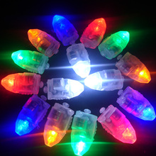 Hot Sale 100pcs/lot Colorful Flash LED Balloon Lights Paper Lantern Lamps for Wedding Christmas Party Decoration natale(China)