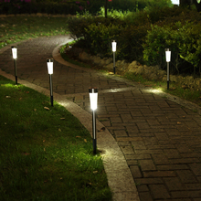 Solar Lamps Lights Waterproof Stainless Steel Outdoor Solar Powered Path Lights Garden Grass Landscape Decorative Lights