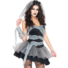 2016 Europe & American female zombie Costume Clothing Halloween Costumes for Women Scary High Quality(China)