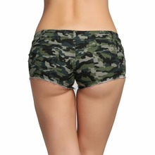 Sexy Summer Mini Slim Camouflage Women Denim Shorts Female Hot Jeans Short Pants Lady Beach Booty Low Waist Ripped  Bermudas