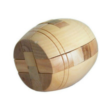 Children Adult 3D Wooden Puzzle Brainteaser Beer Barrel Lock Jigsaw Wood Fancy Christmas Gift Toy High Quality