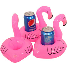 5 Pcs Inflatable Toys Float Drink Holder/Cellphone Holder Toys Mini Inflated Flamingo Water Toys for Swimming Pool Party Favor
