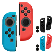 Protect Cover Thumbstick Caps Set Soft Silicone Anti-Slip Case Skin Guard Kit for Left Right Nintendo Switch Joy-Con Controller