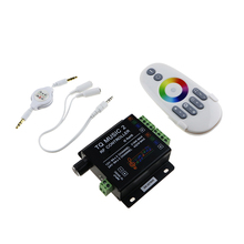 DC12V 24V RGB LED Remote Controller RF Music Sound Audio control 18A 3 Channel TQ Music 2 for SMD 3528 5050 5630 Led Strip Light(China)