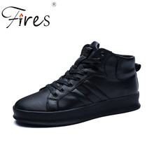 Fires Men's Sport Shoes Black Running Sneakers Adult Training Shoes Comfortable Jogging Shoes Hombre Leather Walking Sheos(China)