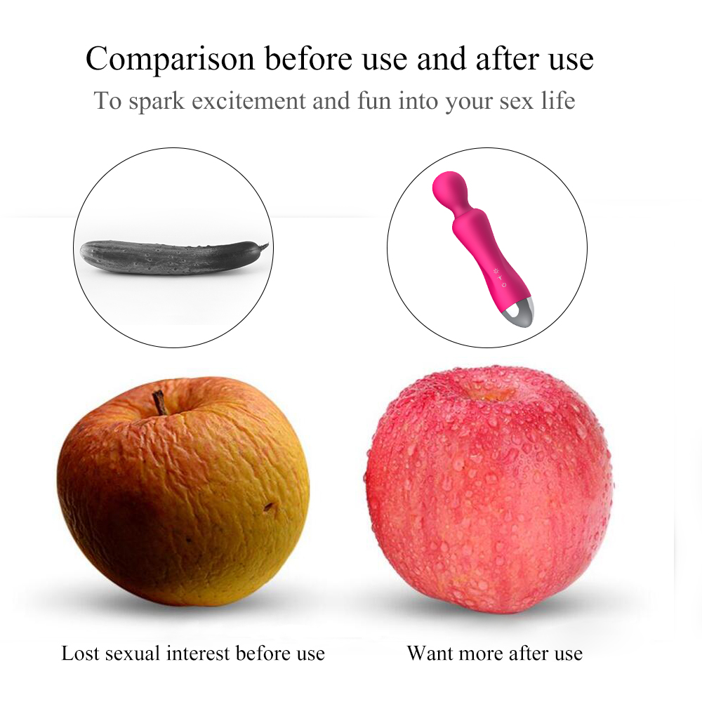 _0312 Speeds G Spot Dildo Vibrators for Women Magic Wand Body Massager Sex Toy For Woman Clitoris Stimulate Female Sex Products