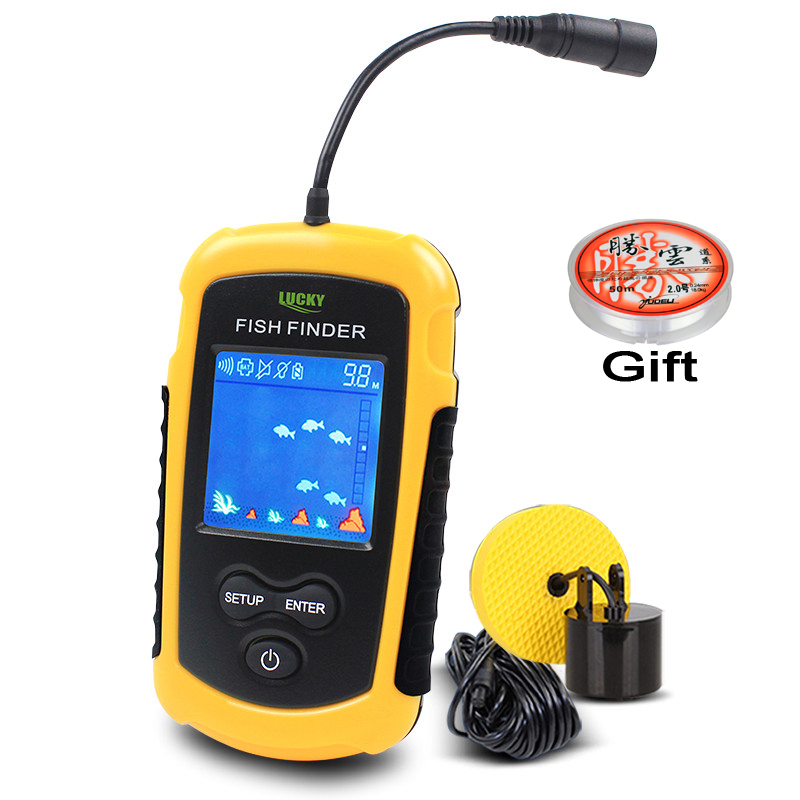 FFC1108-1 100M Portable Sonar LCD Fish Finders Fishing lure Echo Sounder Fishing Finder<br>