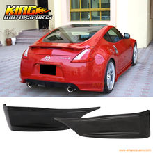 For 2009-2016 10 11 12 13 14 15 Nissan 370Z SS Style Rear Aprons Spat Rear Bumper Lip - PU Urethane