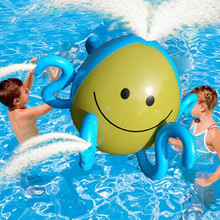 Inflatable Water Spray Ball Sprinkler Octopus Squirt Lawn Pool Toy Fun PVC Outdoor Swim Pool Spray Water Polo For Kids(China)