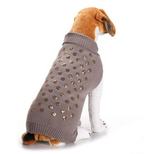 Gray Sequins Pet dog Knitting sweater coat XXS/XXL Unisex Puppy kitty clothing kintwear Classic clothes Jacket shiny paillette