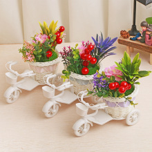 Classic Bicycle Flower Furniture Miniature Creativity Plastic Flower With Fragrance Decoration  Creativity Articles