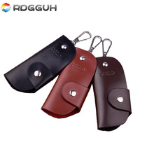 RDGGUH New High-Grade Genuine Leather Purse Key Wallets Luxury Gift Men Housekeeper Holders Car Keys Cases Drop Ship