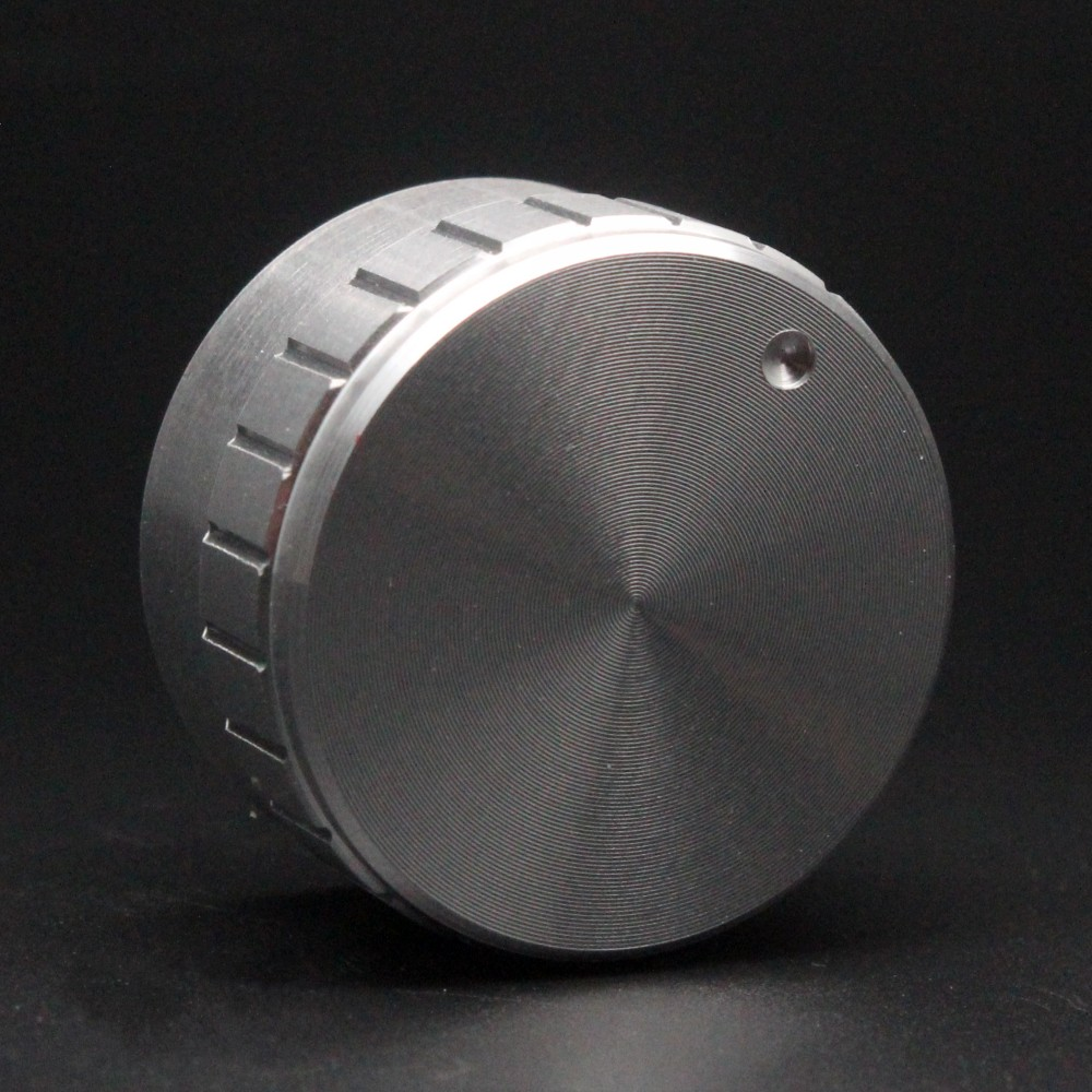 Silver Aluminum Rotary Control Potentiometer Knob 25mm x 15mm BR