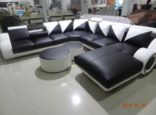 Modern Sofa set living room furniture sectional leather sofa/couches included tables