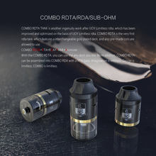 Original iJoy Combo RDTA Tank 25mm Side Filling System 6.5ml Stock e cigarette IJOY Limitless plus rdta/IJOY Maxo Quad 315W mod