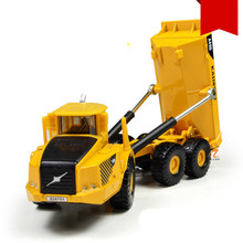 KAIDIWEI 2017 1:87 Alloy Heavy Forklift Metal Dump Truck Kids Toys Classic Brinquedos Toy For Children(China)