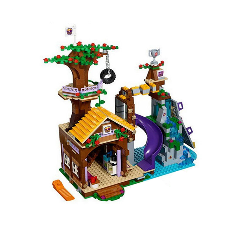 StZhou Adventure Camp Tree House Building Block Set Stephanie Emma Joy Figures Girls Toy Compatible with Blocks  <br>