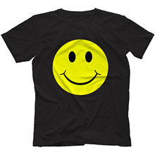 LEQEMAO Acid House Smiley Face T-Shirt 100% Cotton I Love Rave Old Festival Fashion T Shirt Tee Pre-Cotton Tee Shirt for Men(China)