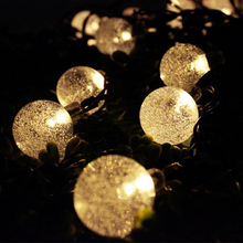 Holiday Lighting Solar String Lights 5/6.5Meters Fairy Lights 20/30 LED Christmas Wedding Party Outdoor Decoration Bubble Ball