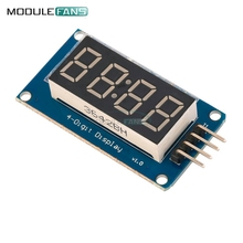 5pcs TM1637 LED Display Module For arduino 7 Segment 4 Bits 0.36Inch Clock RED Anode Digital Tube Four Serial Driver Board Pack(China)