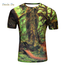Brand New Summer Designer 3D Printed T Shirt Men'S Short Sleeve Tshirt Creative forest Men'S T-Shirt M-4XL plus size tops & tees(China)