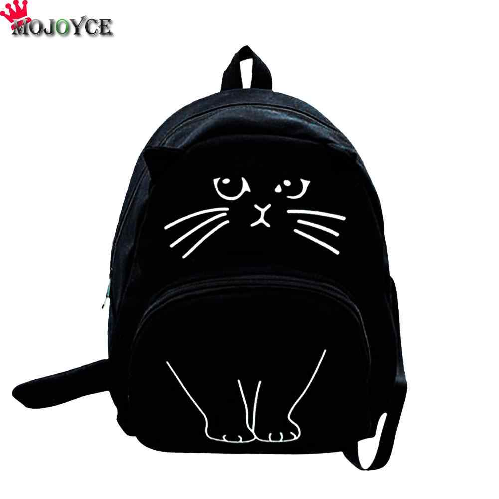08359157af42 Detail Feedback Questions about 2018 Cat Printing Backpack Women Canvas  School Bags For Teenager Girls Ladies Casual Cute Rucksack Mochila Feminina  Sac a ...