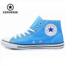 Original Converse  All Star sneakers powderblue women high canvas shoes for women Skateboarding Shoes free shipping