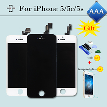 100% Check&Test AAA LCD Display for iPhone 5 5c 5s Touch Screen Complete Digitizer Assembly Replacement Black/White+2 Free Gifts