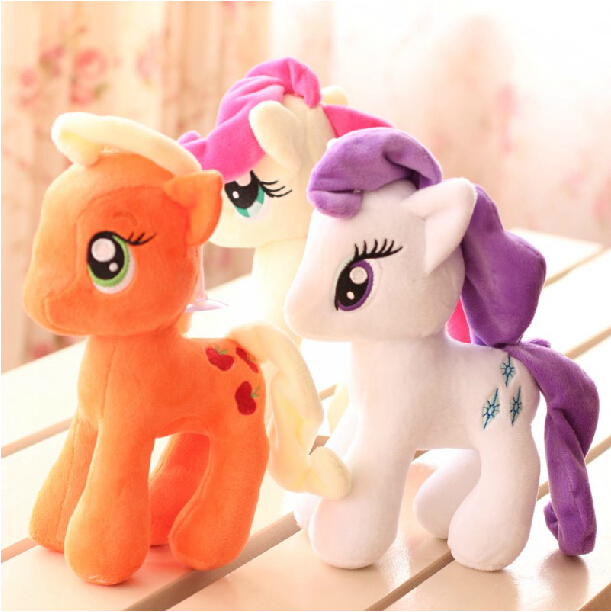 1pcs 7 18cm Cute Rainbow Horse Toys Cartoon Toys Hobbies Stuffed Dolls Movie TV Stuffed Plush Animals Little Horse BaoLi<br>