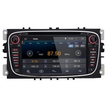Black Color HD Touch Screen Android 5.1.1 system 7 Inch 2 Din Car DVD Player With Built-in GPS Navigation Bluetooth for Ford