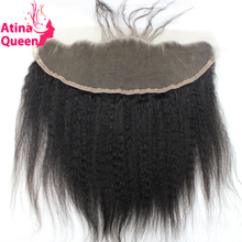 Indian Lace Frontal Piece Bleached Knots 13x4 Free Shipping Lace Frontals And Closures with Baby Hair Kinky Straight Virgin Hair