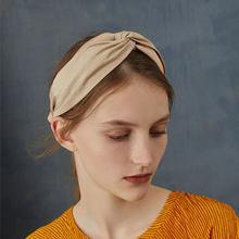 Solid Cross Wide Headband For Lady Women Elegant Fabric Hairband Girls Hair  Hoop Hair Accessories Headdress e395c5ca9308