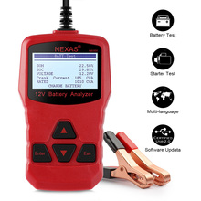 NEXAS NB300 Car Battery Tester 12V Digital Analyzer 1000 CCA Russian Portuguese Polish Multi Languages Car Diagnosis Tester(China)