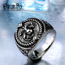 BEIER drop shipping 2017 New Design Retro style stainless steel Unique United States Army Ring for man BR8-452(China)