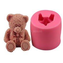 Animal Teddy Bear shape Silicone Fondant Soap 3D Cake Mold Cupcake Jelly Candy Chocolate Decoration Baking Tool Moulds FQ2347